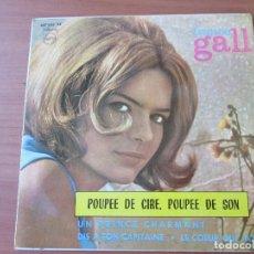 Discos de vinilo: FRANCE GALL POUPEE DE CIRE, POUPEE DE SON +3 PHILIPS 1965. Lote 133500962