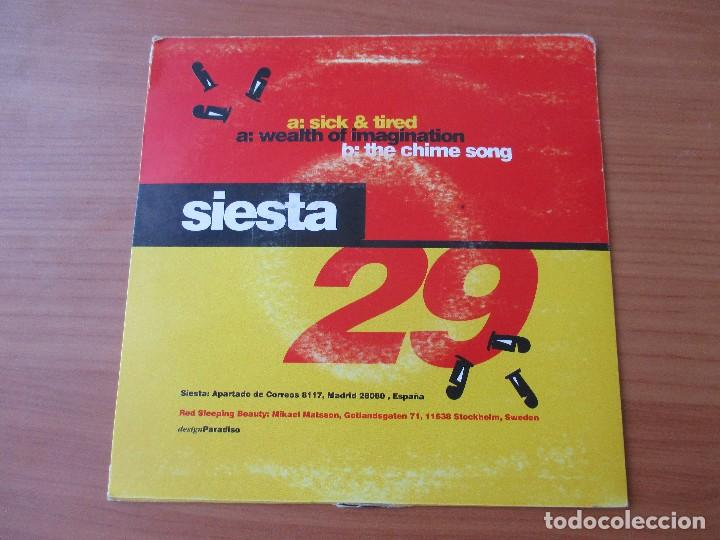 Discos de vinilo: RED SLEEPING BEAUTY SICK & TIRED +2 SIESTA 1995 - Foto 2 - 133501974