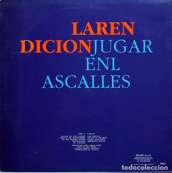 Discos de vinilo: La Rendición – Jugar En Las Calles (España, 1991) - Foto 2 - 133502326