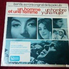 Discos de vinilo: BSO UN HOMME ET UNE FEMME/UN HOMBRE Y UNA MUJER. Lote 133514950