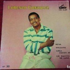 Discos de vinilo: LORENZO GONZÁLEZ . Lote 133515006