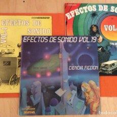 Discos de vinilo: EFECTOS SONIDO 3 DISCOS LP'S EDICIONES ESPAÑOLAS. Lote 133519483
