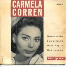 Discos de vinilo: CARMELA CORREN / LOS GITANOS + 3 (EP 1963). Lote 133523086