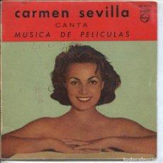 Discos de vinilo: CARMEN SEVILLA CANTA MUSCIA DE PELICULAS / COPLAS / OJITOS TRAIDORES + 2 (EP 1959). Lote 133523314