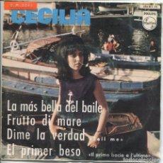 Discos de vinilo: CECILIA / LA MAS BELLA DEL BAILE / DIME LA VERDAD + 2 (EP 1964). Lote 133526230