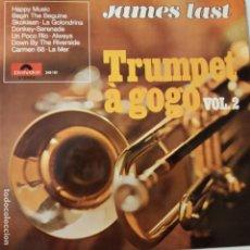 Discos de vinilo: JAMES LAST- TRUMPET A GOGO VOL. 2 - LP SPAIN 1968- EXC. ESTADO.. Lote 133535230