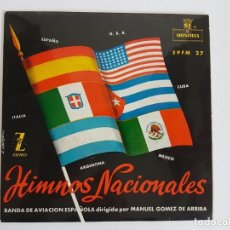 Discos de vinilo: SINGLE HIMNOS NACIONALES. Lote 133552378