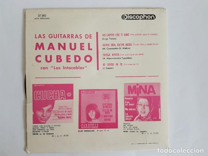 Discos de vinilo: SINGLE LAS GUITARRAS DE MANUEL CUBEDO - Foto 2 - 133552566