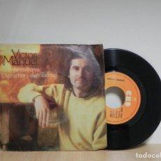 Discos de vinilo: VICTOR MANUEL - SOLO PIENSO EN TI - DIGO AMOR . Lote 133552802