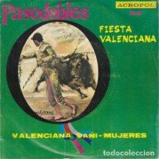 Discos de vinilo: RAFAEL IBARBIA AL PIANO CON LA ORQUESTA LOS DIVOS - FIESTA VALENCIANA - EP RARO DE VINILO ACROPOL. Lote 133559858