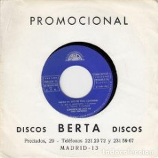 Discos de vinilo: TINO CONTRERAS QUINTET - MARCHA DE LOS DIOSES - EP RARO DE VINILO DE PROMOCION LATIN JAZZ. Lote 133560122