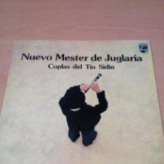 Discos de vinilo: NUEVO MESTER DE JUGLARIA -LP COPLAS DEL TÍO SIDIN - BUEN ESTADO - VER FOTOS. Lote 186280571