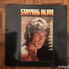 Discos de vinilo: THE ORIGINAL MOTION PICTURE SOUNDTRACK - STAYING ALIVE SELLO: RSO ?– 813 269-1 FORMATO: VINYL, LP, A. Lote 133573354