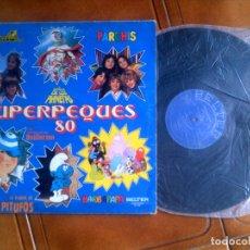 Discos de vinilo: LP SUPERPEQUES 80 MUSICA INFANTIL SERIES TV. Lote 133585918