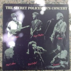 Discos de vinilo: THE SECRET POLICEMAN'S CONCERT - JEFF BECK - ERIC CLAPTON - STING - PHIL COLLINS - BOB GELDOF. Lote 133587630