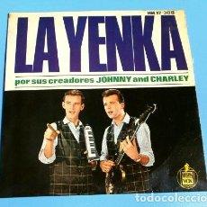 Discos de vinilo: JOHNNY AND CHARLEY (EP HISPAVOX 1964) LA YENKA - POR SUS CREADORES ORIGINALES (BUEN ESTADO). Lote 133587762