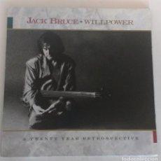 Discos de vinilo: JACK BRUCE – WILLPOWER: A TWENTY YEAR RETROSPECTIVE (CON ERIC CLAPTON ) - 2 LP. Lote 133588682