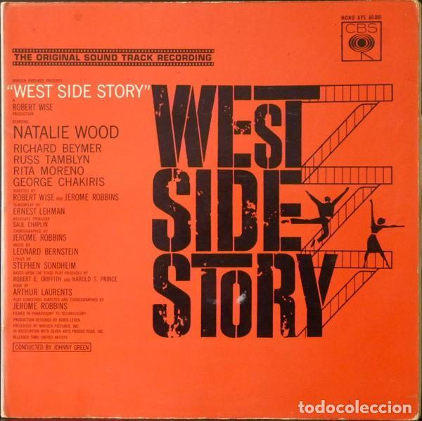 LEONARD BERNSTEIN – WEST SIDE STORY (BANDA SONORA ORIGINAL DE LA PELICULA) [ESPAÑA, 1962. MONO] (Música - Discos - LP Vinilo - Bandas Sonoras y Música de Actores )