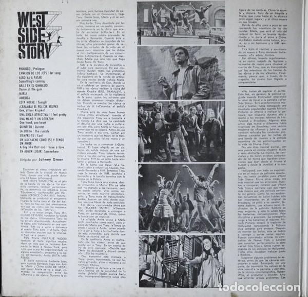Discos de vinilo: Leonard Bernstein – West Side Story (Banda Sonora Original De La Pelicula) [España, 1962. Mono] - Foto 3 - 133590386