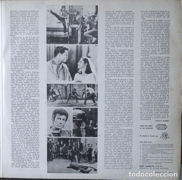 Discos de vinilo: Leonard Bernstein – West Side Story (Banda Sonora Original De La Pelicula) [España, 1962. Mono] - Foto 4 - 133590386