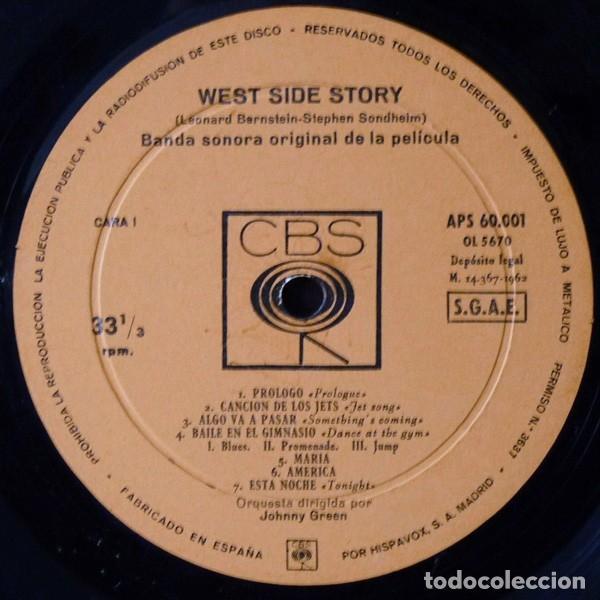 Discos de vinilo: Leonard Bernstein – West Side Story (Banda Sonora Original De La Pelicula) [España, 1962. Mono] - Foto 5 - 133590386