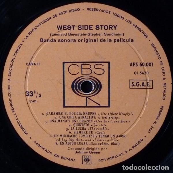 Discos de vinilo: Leonard Bernstein – West Side Story (Banda Sonora Original De La Pelicula) [España, 1962. Mono] - Foto 6 - 133590386