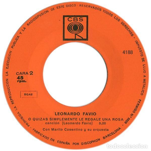 Discos de vinilo: Leonardo Favio – Ella... Ella Ya Me Olvidó, Yo La Recuerdo Ahora (España, 1968) - Foto 4 - 133590694