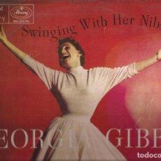 Discos de vinilo: LP-GEORGIA GIBBS SWINGING WITH HER NIBS MERCURY 20170 SPAIN BAILANDO CON SUS MELODIAS. Lote 133614834