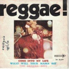 Discos de vinilo: THE BANANA BOYS - COME INTO MY LIFE / WHAT WILL YOUR MAMA SAY (SINGLE ESPAÑOL, MCA RECORDS 1969). Lote 133617270