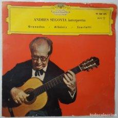Discos de vinilo: EP - ANDRES SEGOVIA - GRANADOS/ALBENIZ/SCARLATTI - DEUTSCHE GRAMMOPHON 30 588 EPL - 1961. Lote 133620738