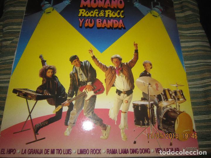MONANO Y SU BANDA - ROCK N ROLL LP - ORIGINAL ESPAÑOL - EMI RECORDS 1987 CON ENCARTE (LETRAS) (Música - Discos - LP Vinilo - Grupos Españoles de los 70 y 80)