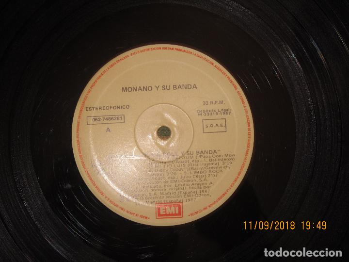 Discos de vinilo: MONANO Y SU BANDA - ROCK N ROLL LP - ORIGINAL ESPAÑOL - EMI RECORDS 1987 CON ENCARTE (LETRAS) - Foto 12 - 133630650