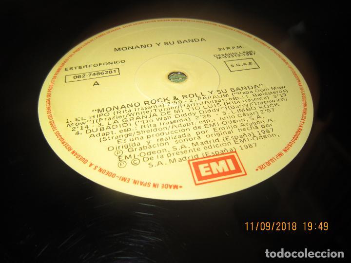 Discos de vinilo: MONANO Y SU BANDA - ROCK N ROLL LP - ORIGINAL ESPAÑOL - EMI RECORDS 1987 CON ENCARTE (LETRAS) - Foto 13 - 133630650