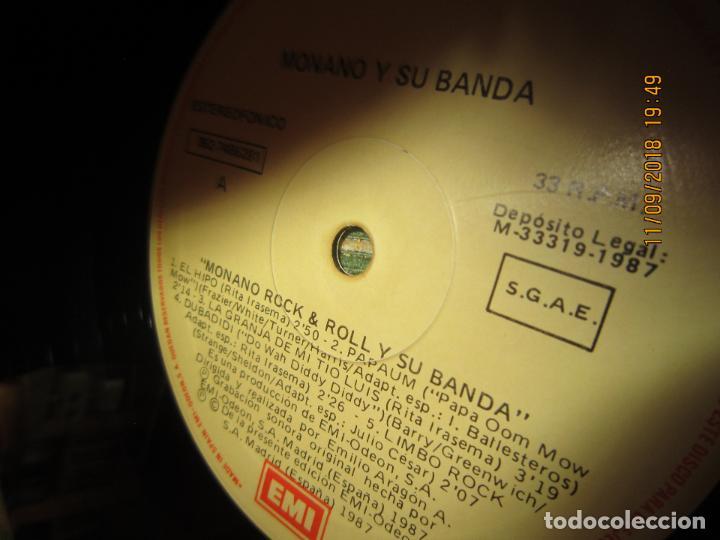 Discos de vinilo: MONANO Y SU BANDA - ROCK N ROLL LP - ORIGINAL ESPAÑOL - EMI RECORDS 1987 CON ENCARTE (LETRAS) - Foto 14 - 133630650