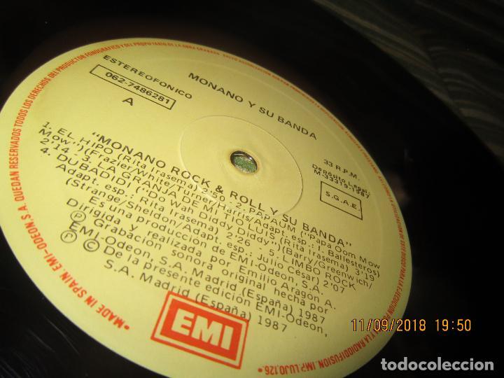 Discos de vinilo: MONANO Y SU BANDA - ROCK N ROLL LP - ORIGINAL ESPAÑOL - EMI RECORDS 1987 CON ENCARTE (LETRAS) - Foto 16 - 133630650