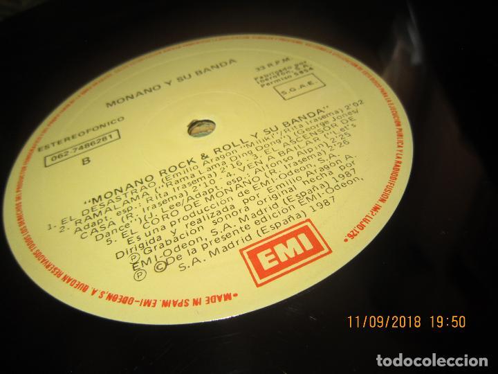 Discos de vinilo: MONANO Y SU BANDA - ROCK N ROLL LP - ORIGINAL ESPAÑOL - EMI RECORDS 1987 CON ENCARTE (LETRAS) - Foto 17 - 133630650