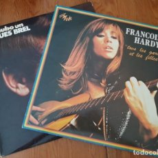Discos de vinilo: 2 LONG PLAY: JACQUES BREL Y FRANÇOISE HARDY. Lote 133631810