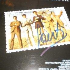 Discos de vinilo: LP LOS MUSTANG AYER UNA VEZ MÁS. CON AUTÓGRAFO DE SANTI CARULLA. PERFIL 1991 SPAIN (COMO NUEVO). Lote 133632934