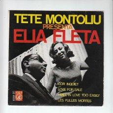 Discos de vinilo: TETE MONTOLIU & ELIA FLETA:CONCENTRIC 1968 EXCELENTE ESTADO. Lote 133643238
