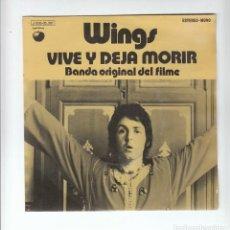 Discos de vinilo: THE BEATLES: WINGS- SINGLE DE 1973- SPAIN- MUY NUEVO!!-RARO DE VER!!. Lote 133647898