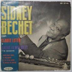 Discos de vinilo: EP - SIDNEY BECHET - SAINT-LOUIS BLUES +3 - HISPAVOX HV 27-46 - 1960. Lote 133655326