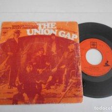 Disques de vinyle: THE UNION GAP-SINGLE WOMAN WOMAN. Lote 133657558