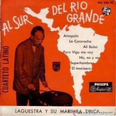 Discos de vinilo: LAGUESTRA Y SU MARIMBA TIPICA - CUARTETO LATINO - AL SUR DEL RIO GRANDE 1958. Lote 133658890