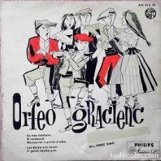 Discos de vinilo: ORFEÓ GRACIENC - ELS TRES TAMBORS - EP PHILIPS 1958. Lote 133661598