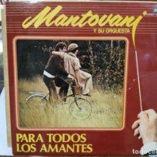 Discos de vinilo: MANTOVANI Y SU ORQUESTA - PARA TODOS LOS AMANTES - DOBLE LP. DEL SELLO DECCA DE 1980. Lote 133666830