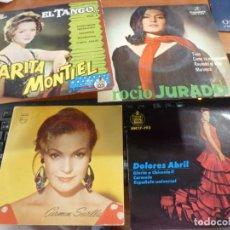 Discos de vinilo: M. ESCOBAR, A. CHACON, LA PAQUERA, JARRITO, ANTONIO, D. ABRIL, CARMEN SEVILLA, ROCIO JURADO, LEER... Lote 133668590