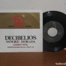 Discos de vinilo: DECIBELIOS 7´´ MEGA RARE VINTAGE SPAIN 1986. Lote 133669010