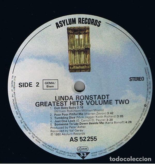 Discos de vinilo: Linda Ronstadt – Greatest Hits Volume Two (España, 1980) - Foto 4 - 133669318