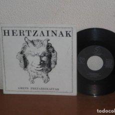 Discos de vinilo: HERTZAINAK 7´´ MEGA RARE VINTAGE SPAIN 1990. Lote 133669502