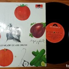 Discos de vinilo: CREAM LO MEJOR DE LOS CREAM LP 1969 POLYDOR 184 298 EDICION ESPAÑOLA SPAIN. Lote 133674302